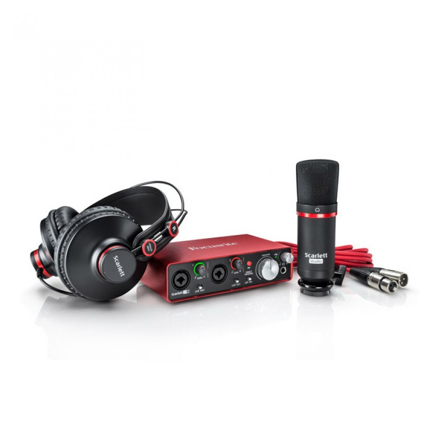 کارت صدا فوکوسرایت Focusrite Scarlett 2i2 Studio Bundle G2